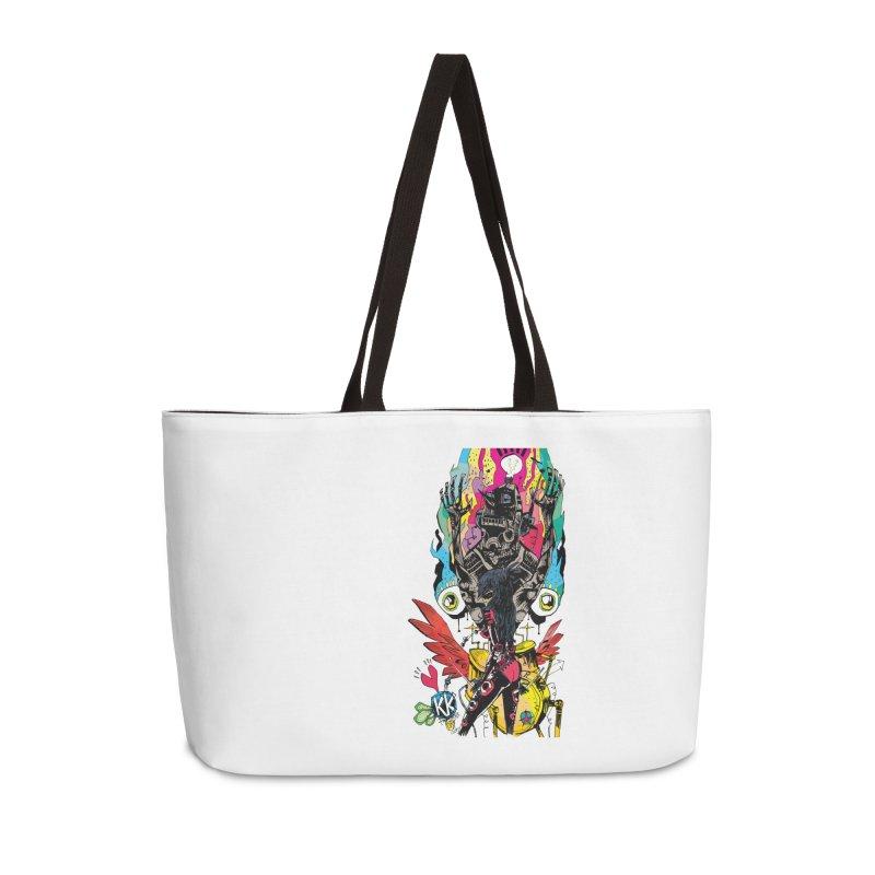 Kirby Krackle - Electric Man Logo Accessories Weekender Bag Bag by Kirby Krackle's Artist Shop