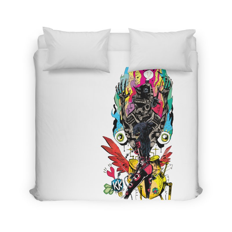 Kirby Krackle - Electric Man Logo Home Duvet by Kirby Krackle's Artist Shop