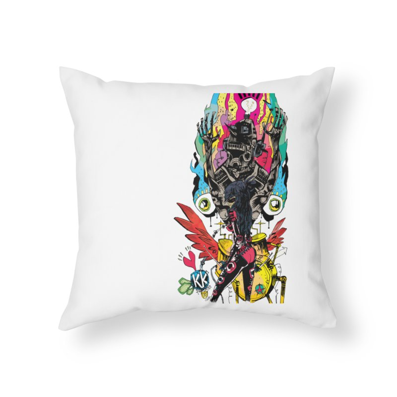 Kirby Krackle - Electric Man Logo Home Throw Pillow by Kirby Krackle's Artist Shop