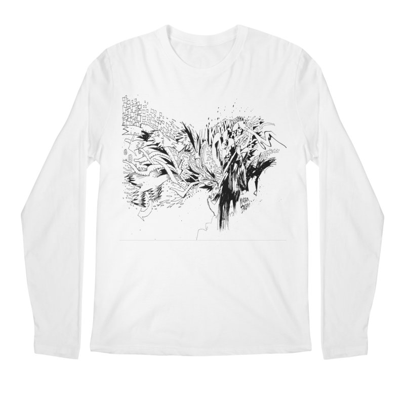 Kirby Krackle - MUTATE, BABY! B&W Cover Image Men's Regular Longsleeve T-Shirt by Kirby Krackle's Artist Shop