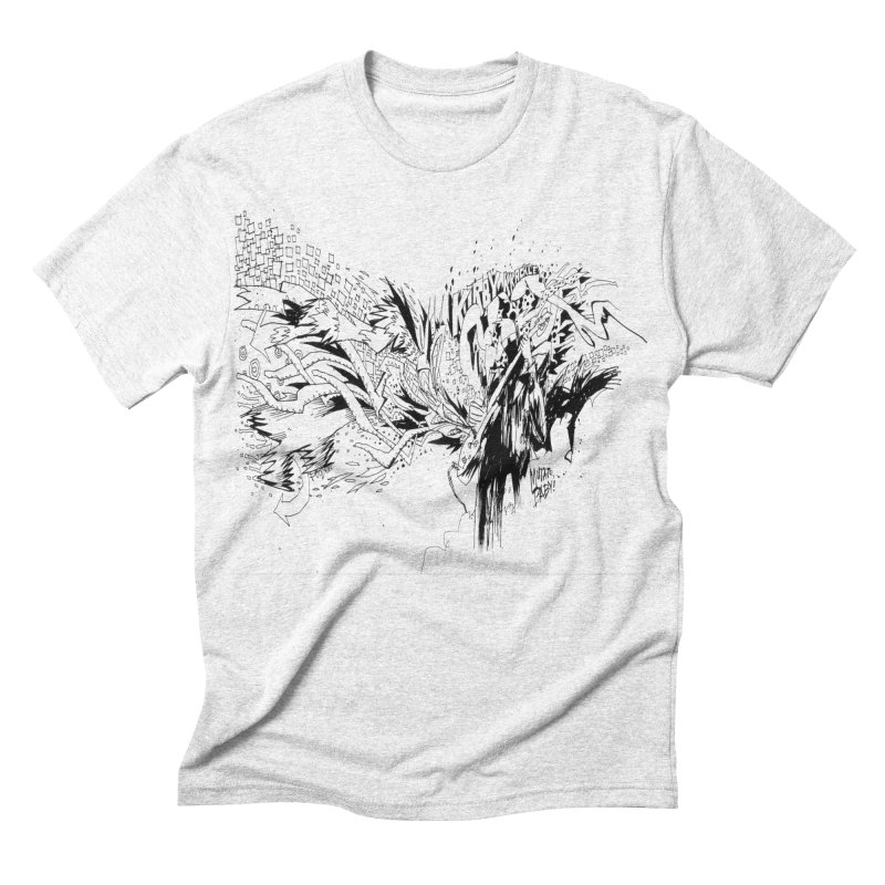 Kirby Krackle - MUTATE, BABY! B&W Cover Image Men's Triblend T-shirt by Kirby Krackle's Artist Shop