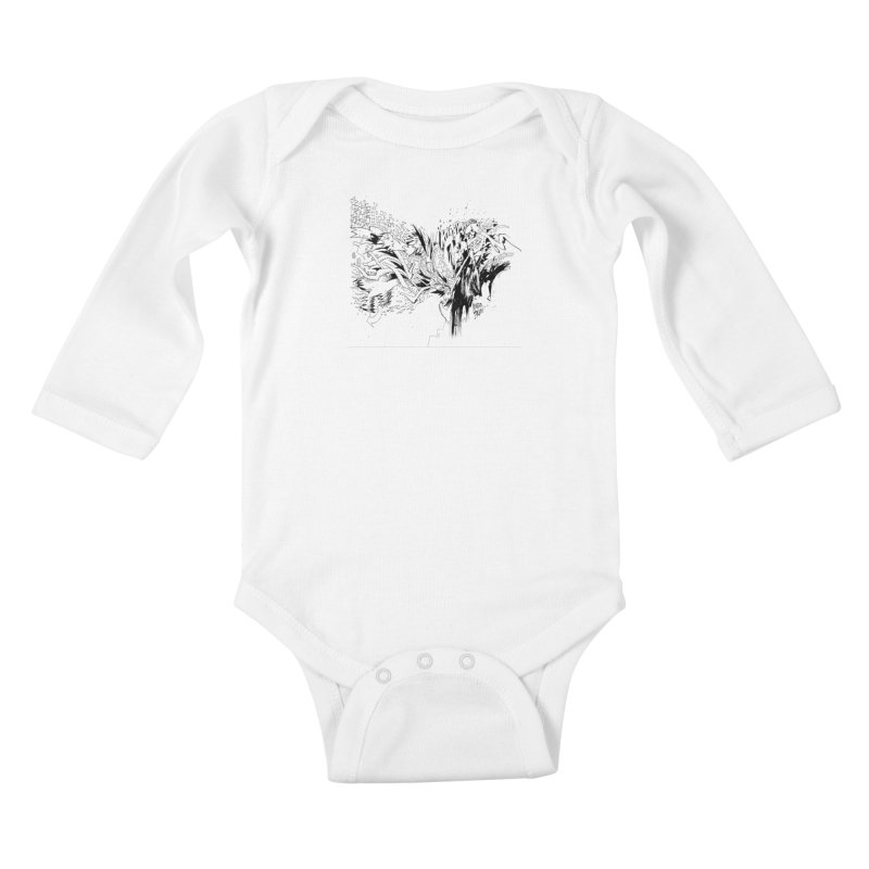 Kirby Krackle - MUTATE, BABY! B&W Cover Image Kids Baby Longsleeve Bodysuit by Kirby Krackle's Artist Shop