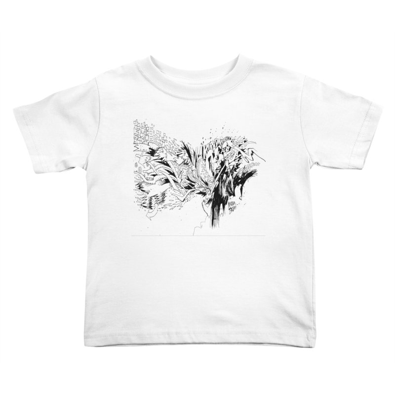 Kirby Krackle - MUTATE, BABY! B&W Cover Image Kids Toddler T-Shirt by Kirby Krackle's Artist Shop