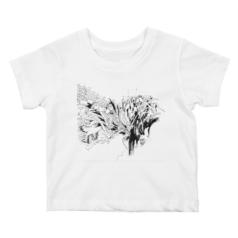 Kirby Krackle - MUTATE, BABY! B&W Cover Image Kids Baby T-Shirt by Kirby Krackle's Artist Shop