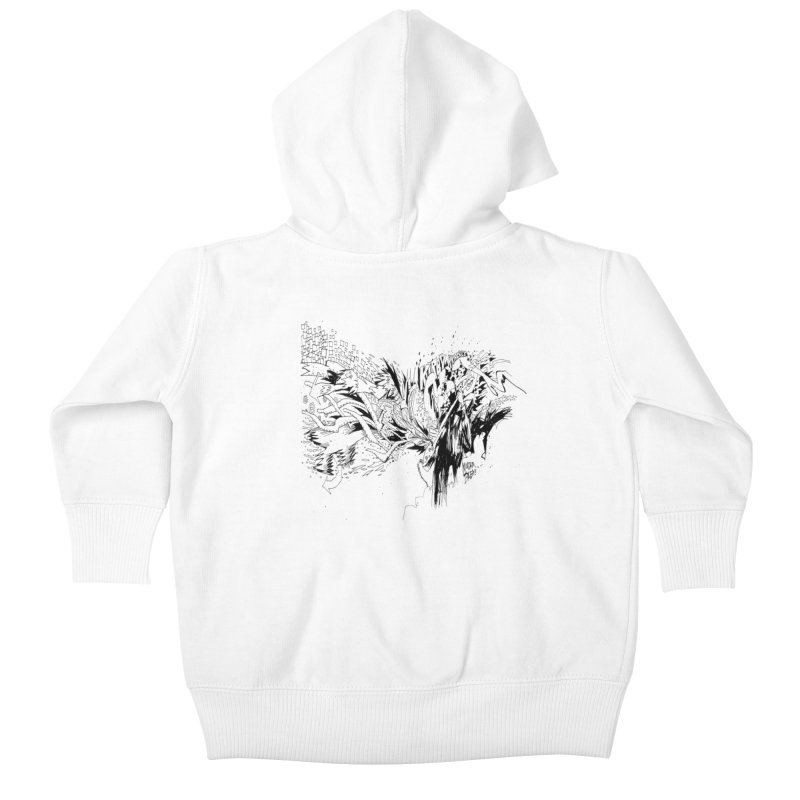 Kirby Krackle - MUTATE, BABY! B&W Cover Image Kids Baby Zip-Up Hoody by Kirby Krackle's Artist Shop