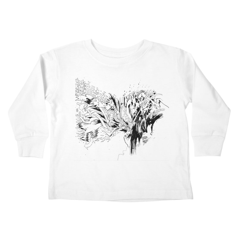 Kirby Krackle - MUTATE, BABY! B&W Cover Image Kids Toddler Longsleeve T-Shirt by Kirby Krackle's Artist Shop