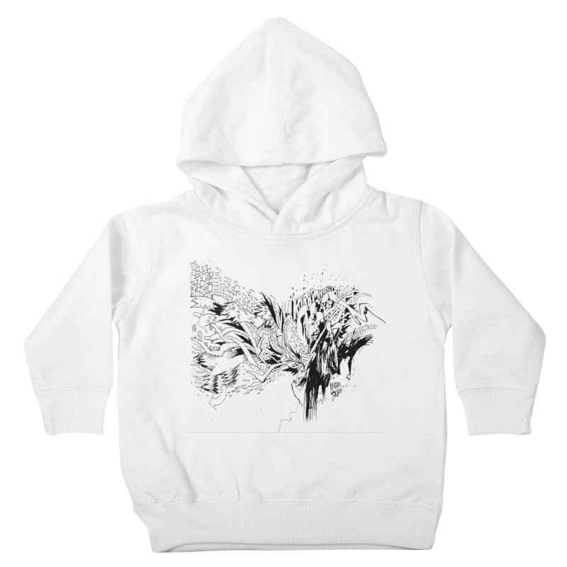 Kirby Krackle - MUTATE, BABY! B&W Cover Image Kids Toddler Pullover Hoody by Kirby Krackle's Artist Shop