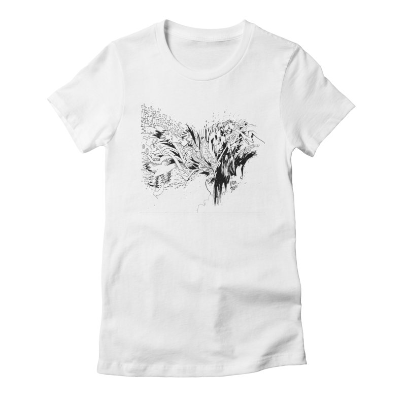 Kirby Krackle - MUTATE, BABY! B&W Cover Image Women's Fitted T-Shirt by Kirby Krackle's Artist Shop
