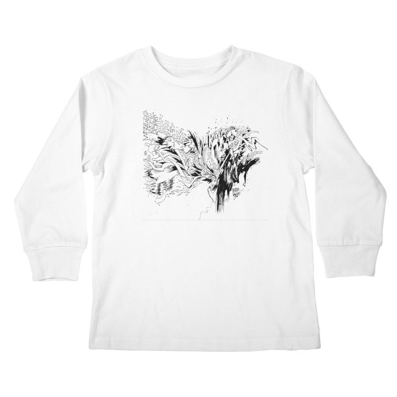 Kirby Krackle - MUTATE, BABY! B&W Cover Image Kids Longsleeve T-Shirt by Kirby Krackle's Artist Shop