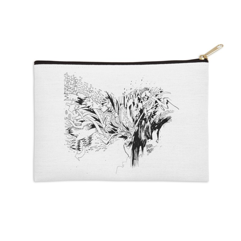 Kirby Krackle - MUTATE, BABY! B&W Cover Image Accessories Zip Pouch by Kirby Krackle's Artist Shop