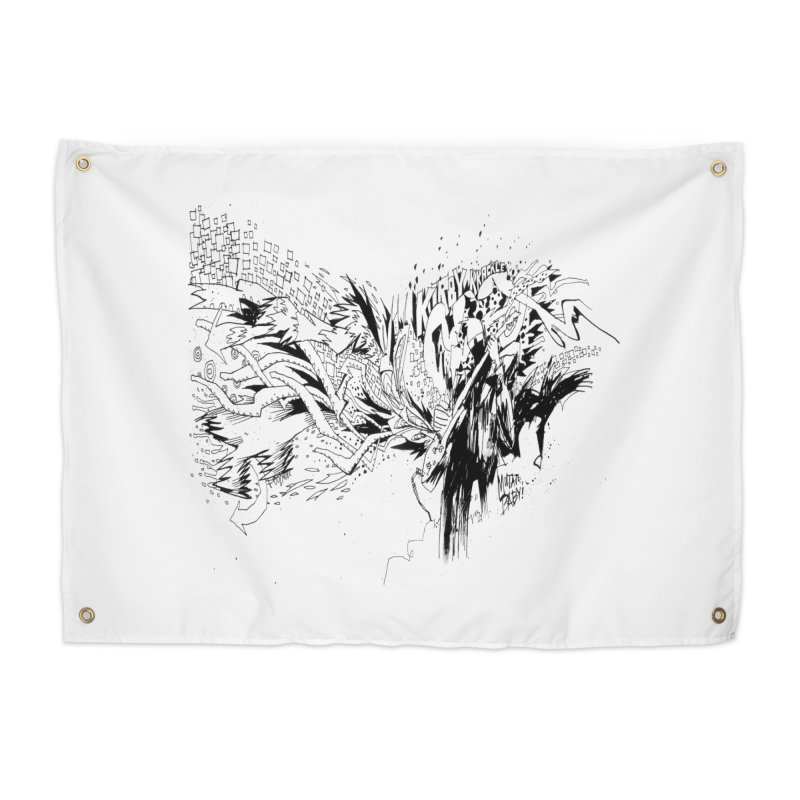 Kirby Krackle - MUTATE, BABY! B&W Cover Image Home Tapestry by Kirby Krackle's Artist Shop