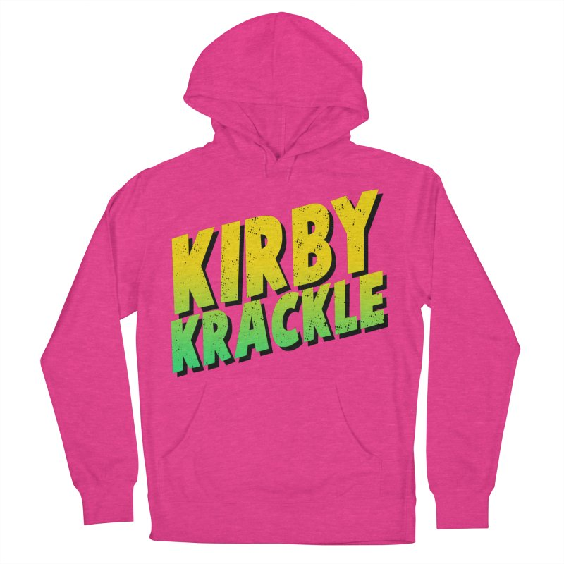 Kirby Krackle - Block Logo Women's French Terry Pullover Hoody by Kirby Krackle's Artist Shop