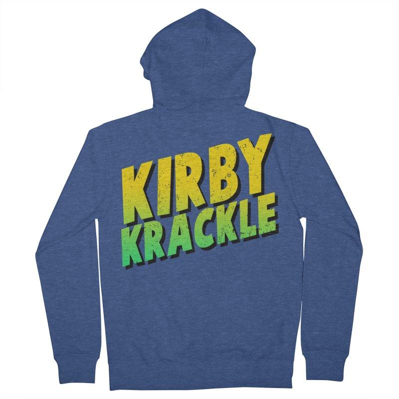 Kirby Krackle - Block Logo Women's French Terry Zip-Up Hoody by Kirby Krackle's Artist Shop