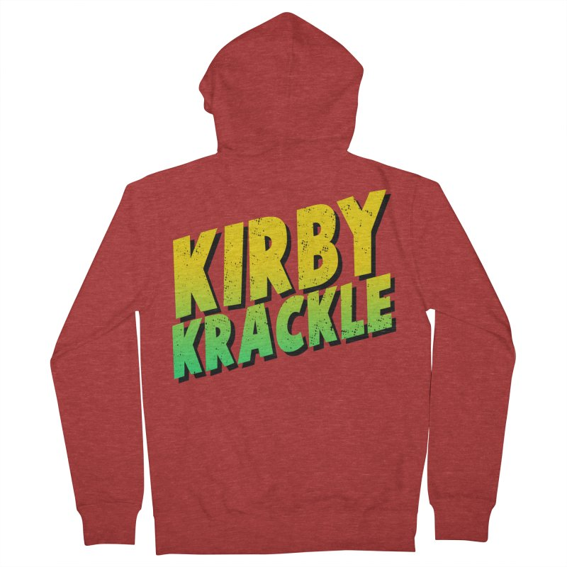 Kirby Krackle - Block Logo Men's French Terry Zip-Up Hoody by Kirby Krackle's Artist Shop