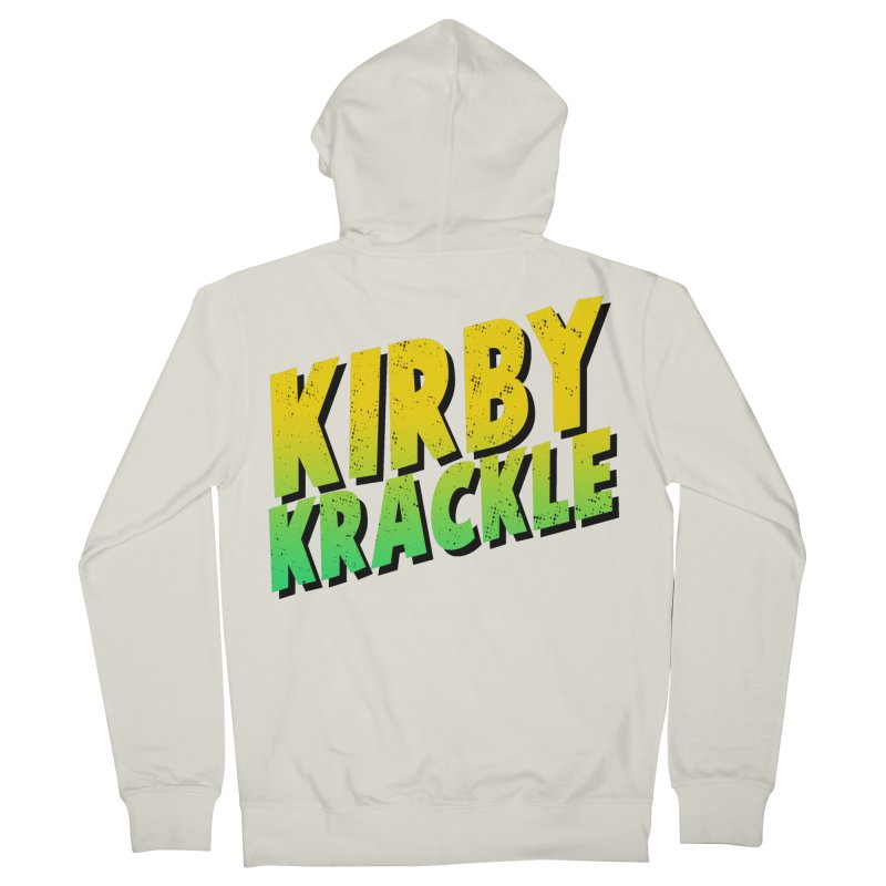 Kirby Krackle - Block Logo Men's Zip-Up Hoody by Kirby Krackle's Artist Shop