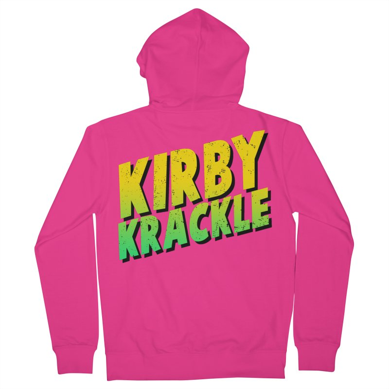 Kirby Krackle - Block Logo Men's French Terry Zip-Up Hoody by Kirby Krackle's Artist Shop