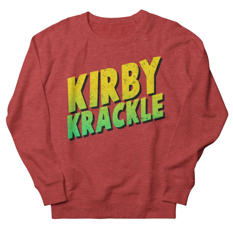 Kirby Krackle - Block Logo Men's French Terry Sweatshirt by Kirby Krackle's Artist Shop