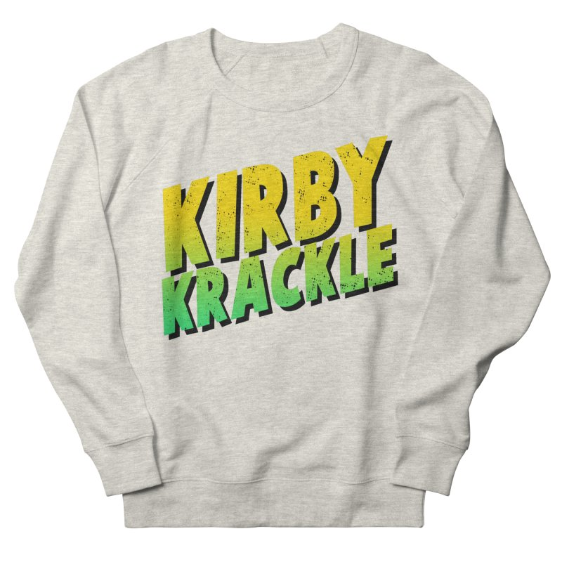 Kirby Krackle - Block Logo Men's French Terry Sweatshirt by Kirby Krackle's Artist Shop
