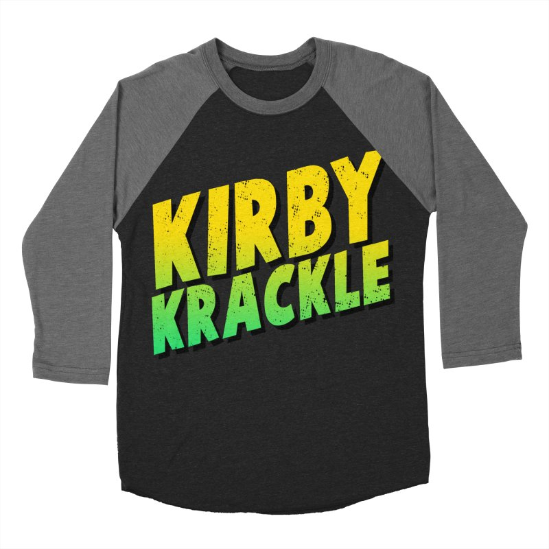 Kirby Krackle - Block Logo Men's Baseball Triblend T-Shirt by Kirby Krackle's Artist Shop