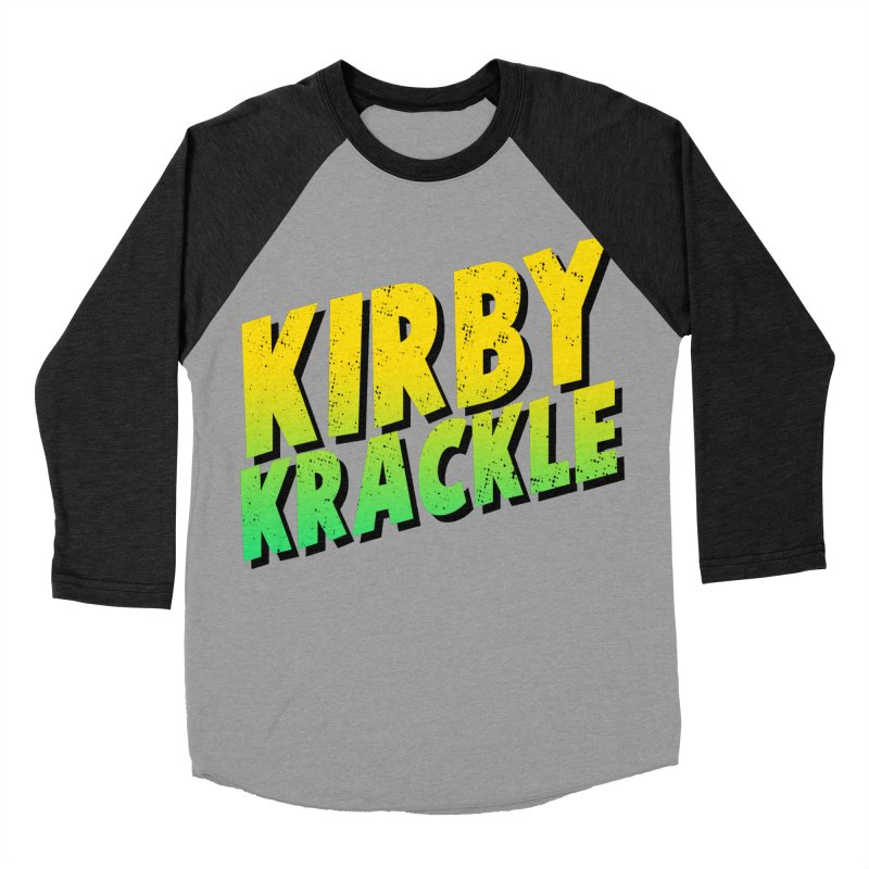Kirby Krackle - Block Logo Men's Baseball Triblend Longsleeve T-Shirt by Kirby Krackle's Artist Shop