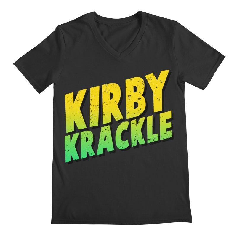 Kirby Krackle - Block Logo Men's Regular V-Neck by Kirby Krackle's Artist Shop