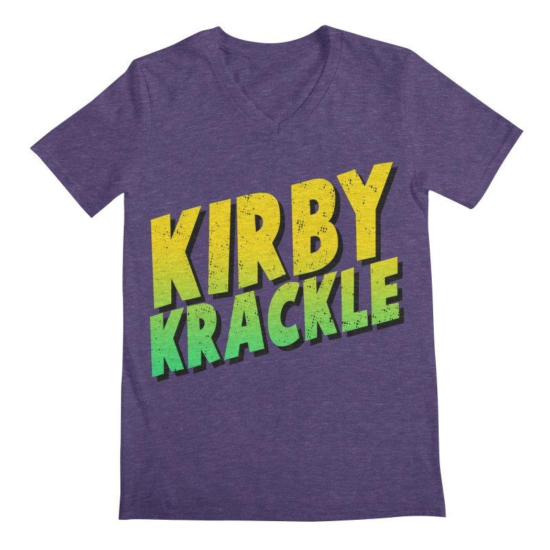 Kirby Krackle - Block Logo Men's V-Neck by Kirby Krackle's Artist Shop