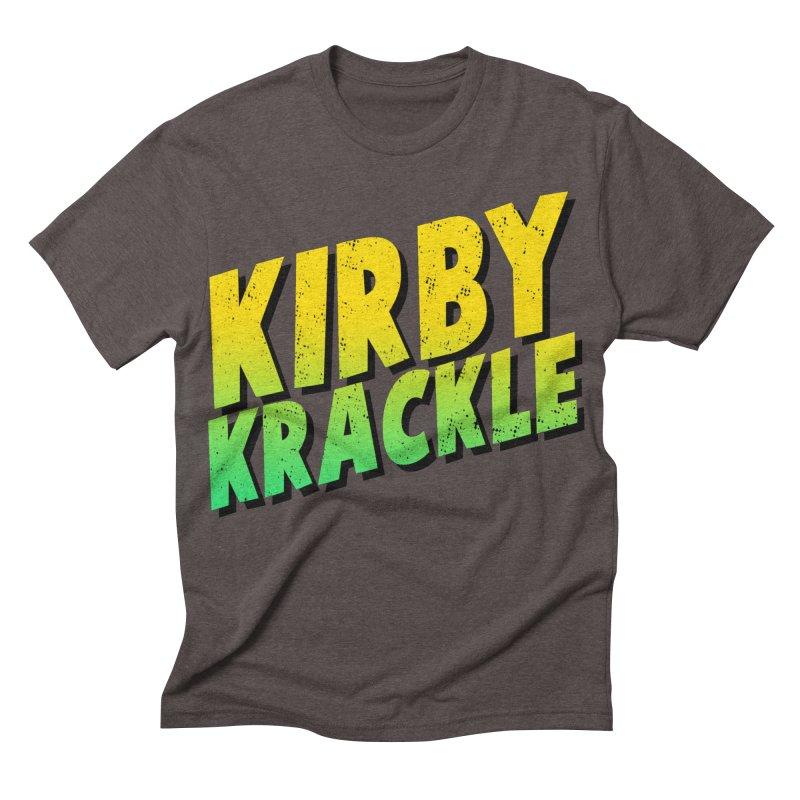 Kirby Krackle - Block Logo Men's Triblend T-shirt by Kirby Krackle's Artist Shop