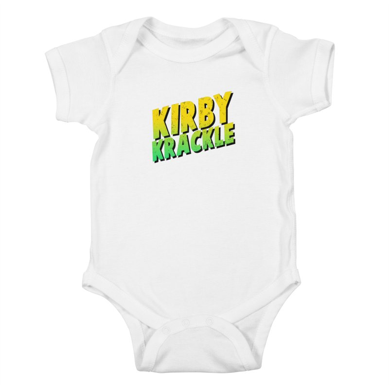 Kirby Krackle - Block Logo Kids Baby Bodysuit by Kirby Krackle's Artist Shop