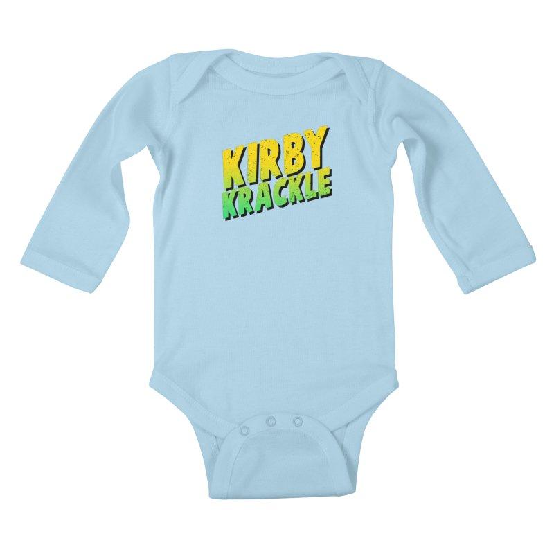Kirby Krackle - Block Logo Kids Baby Longsleeve Bodysuit by Kirby Krackle's Artist Shop