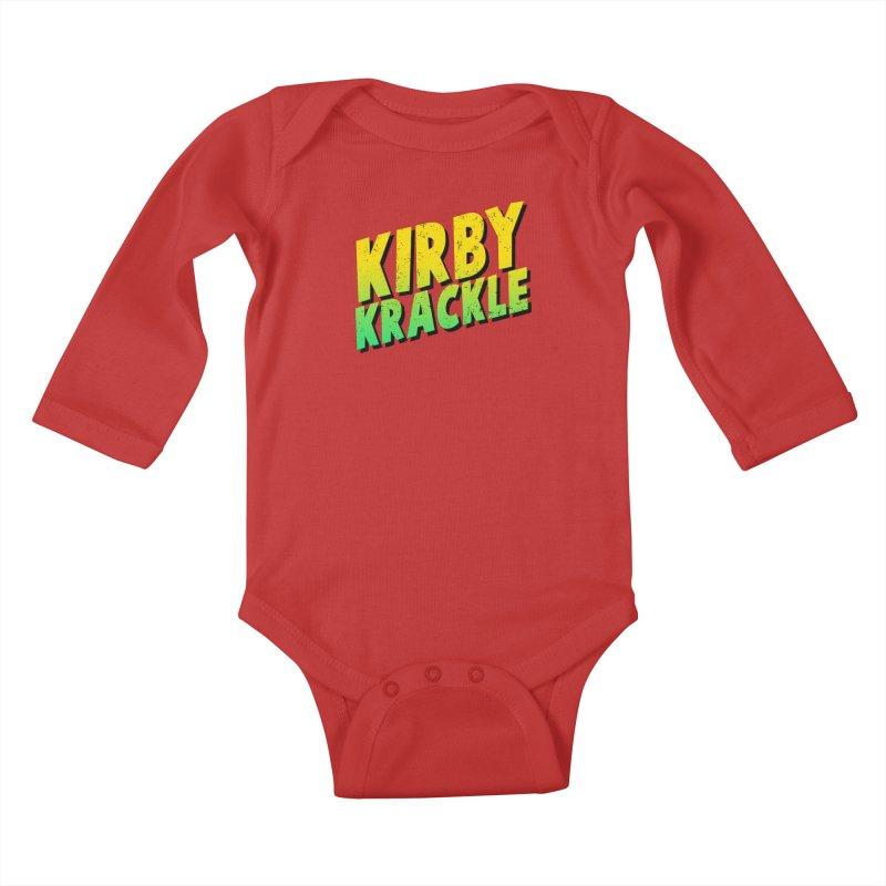 Kirby Krackle - Block Logo Kids Baby Longsleeve Bodysuit by Kirby Krackle's Artist Shop