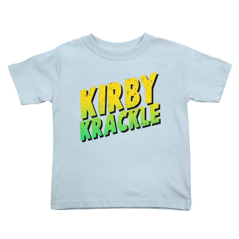 Kirby Krackle - Block Logo Kids Toddler T-Shirt by Kirby Krackle's Artist Shop