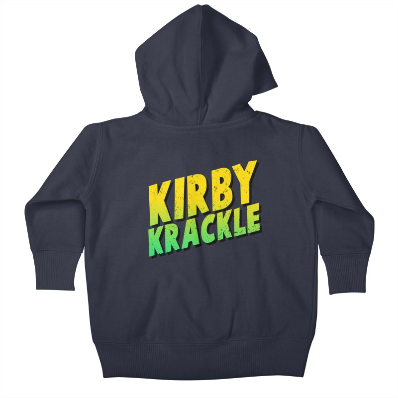 Kirby Krackle - Block Logo Kids Baby Zip-Up Hoody by Kirby Krackle's Artist Shop