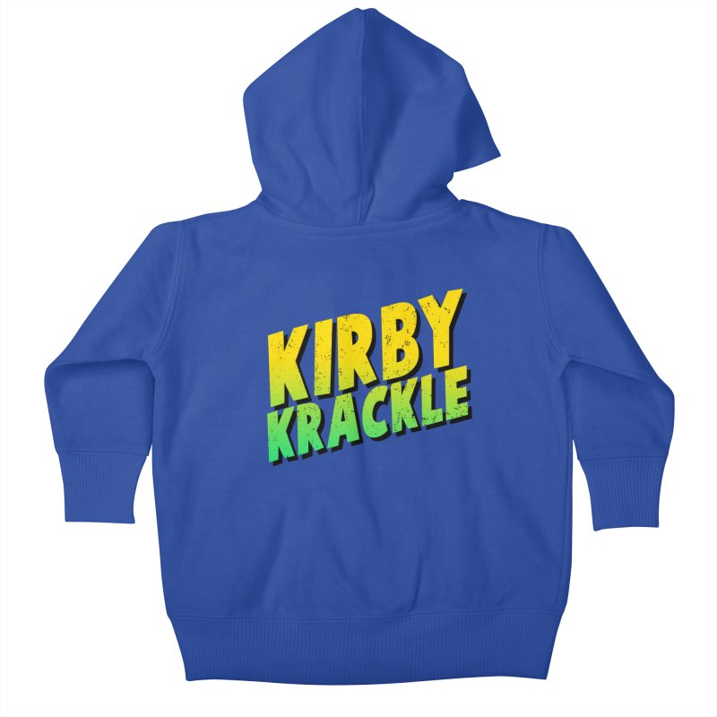 Kirby Krackle - Block Logo Kids Baby Zip-Up Hoody by Kirby Krackle's Artist Shop