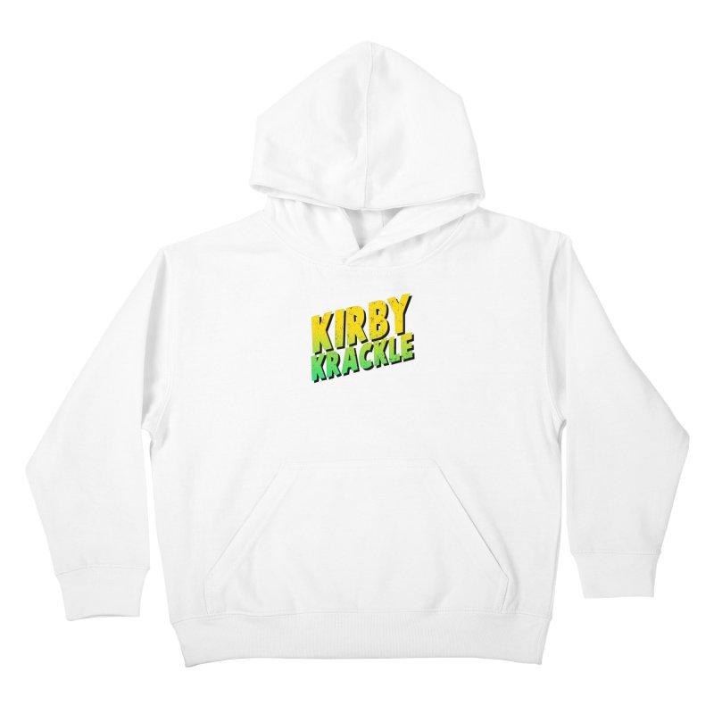 Kirby Krackle - Block Logo Kids Pullover Hoody by Kirby Krackle's Artist Shop