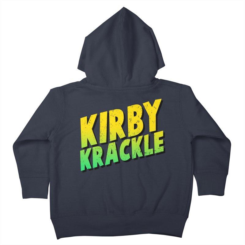 Kirby Krackle - Block Logo Kids Toddler Zip-Up Hoody by Kirby Krackle's Artist Shop
