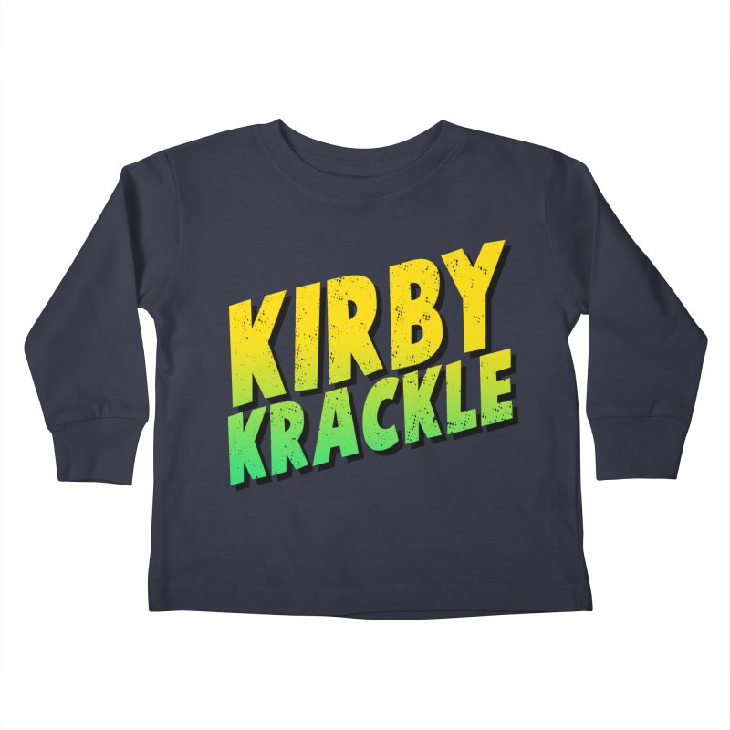 Kirby Krackle - Block Logo Kids Toddler Longsleeve T-Shirt by Kirby Krackle's Artist Shop