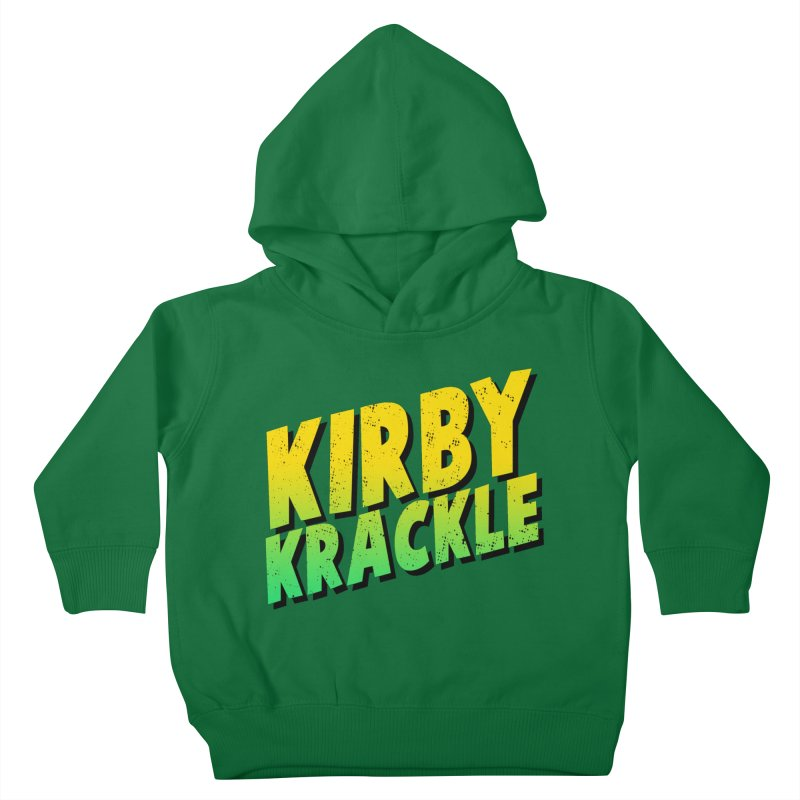 Kirby Krackle - Block Logo Kids Toddler Pullover Hoody by Kirby Krackle's Artist Shop