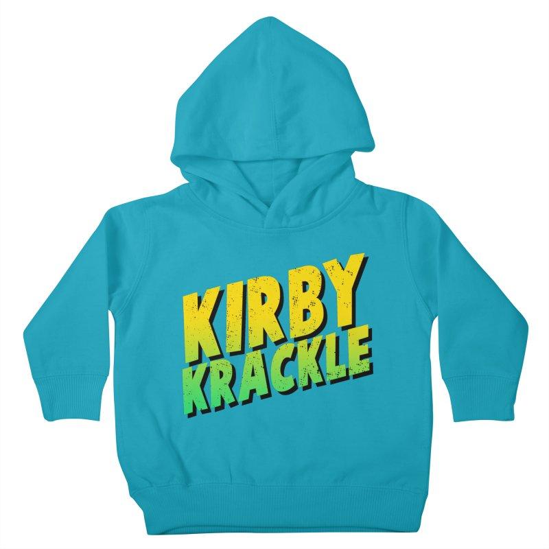 Kirby Krackle - Block Logo Kids Toddler Pullover Hoody by Kirby Krackle's Artist Shop