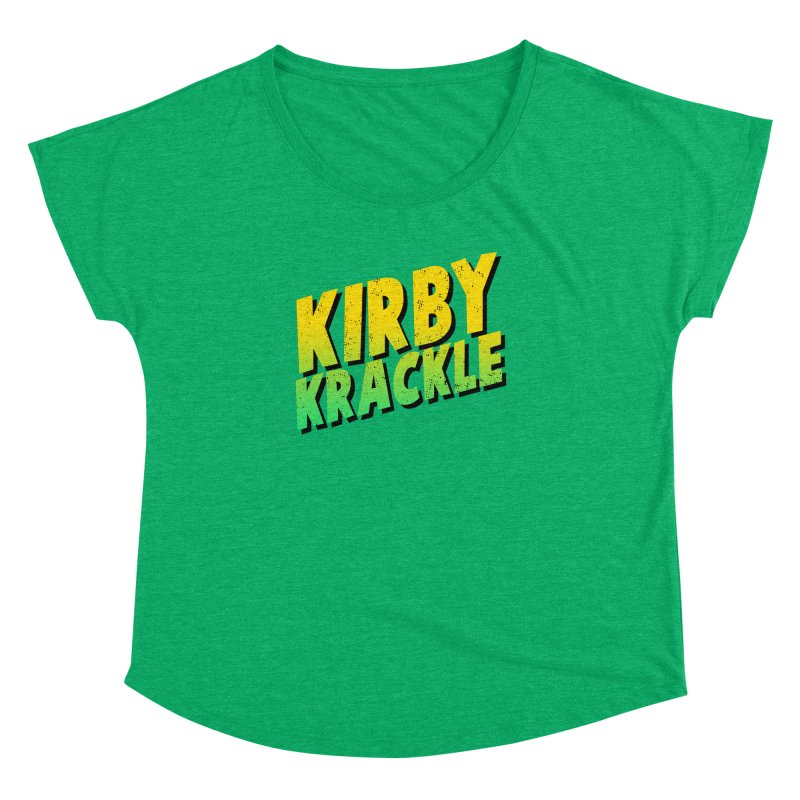 Kirby Krackle - Block Logo Women's Dolman Scoop Neck by Kirby Krackle's Artist Shop