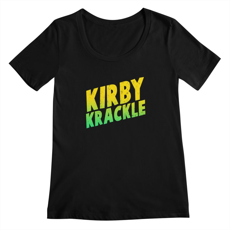 Kirby Krackle - Block Logo Women's Scoopneck by Kirby Krackle's Artist Shop