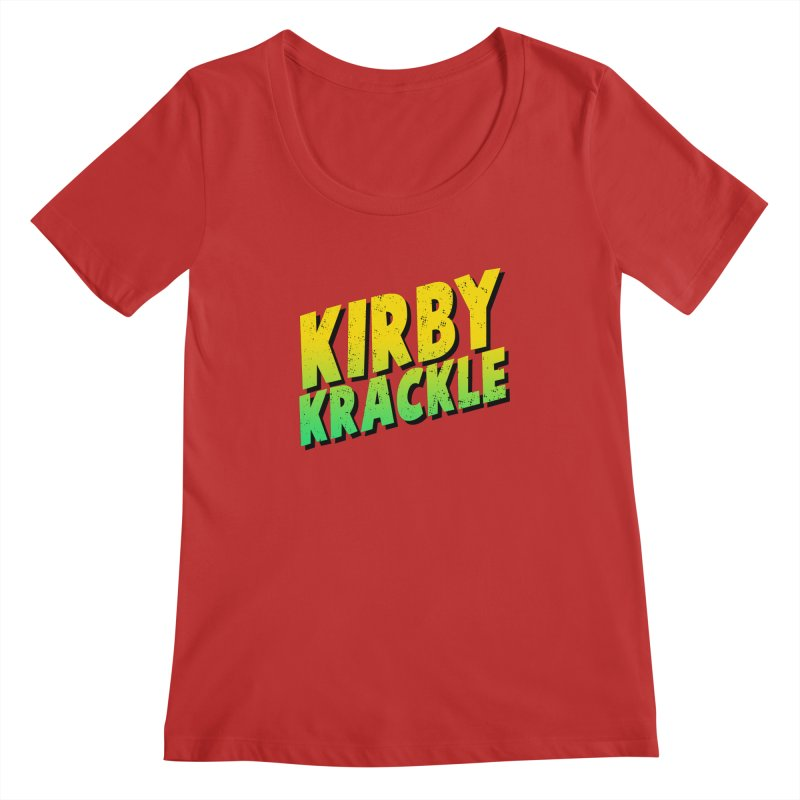 Kirby Krackle - Block Logo Women's Regular Scoop Neck by Kirby Krackle's Artist Shop