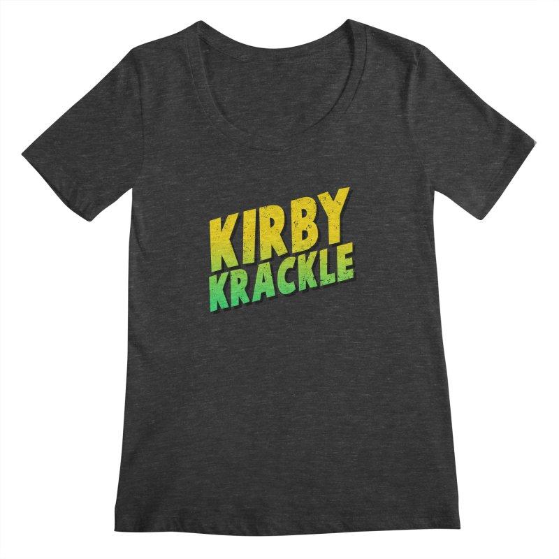 Kirby Krackle - Block Logo Women's Scoopneck by Kirby Krackle's Artist Shop
