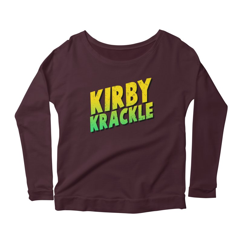 Kirby Krackle - Block Logo Women's Scoop Neck Longsleeve T-Shirt by Kirby Krackle's Artist Shop