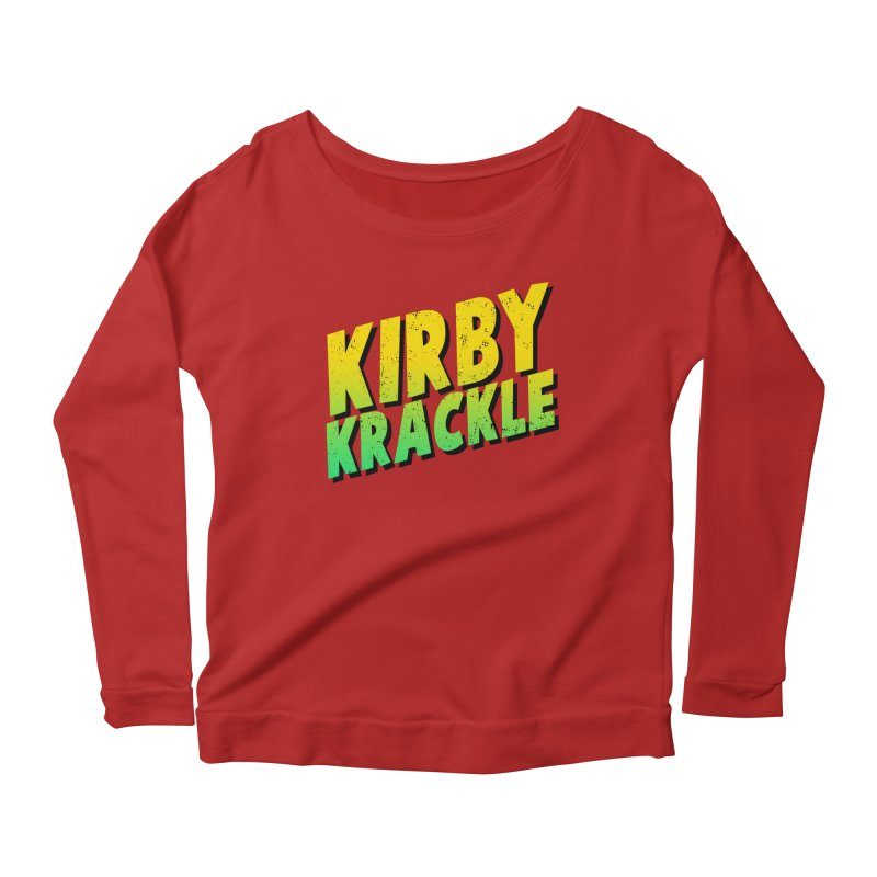 Kirby Krackle - Block Logo Women's Longsleeve Scoopneck  by Kirby Krackle's Artist Shop