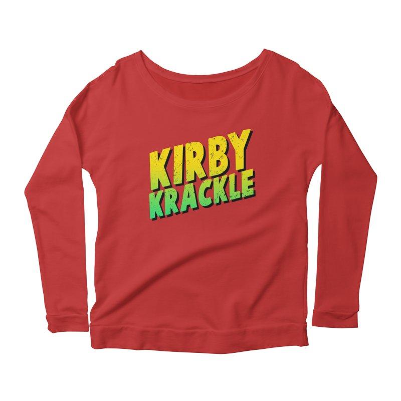 Kirby Krackle - Block Logo Women's Longsleeve Scoopneck  by Kirby Krackle's Artist Shop