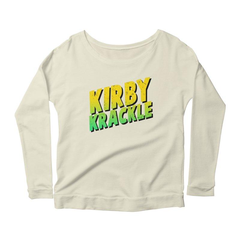 Kirby Krackle - Block Logo Women's Scoop Neck Longsleeve T-Shirt by Kirby Krackle's Artist Shop