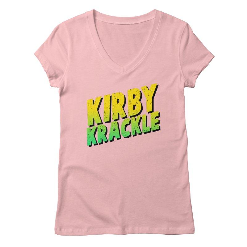 Kirby Krackle - Block Logo Women's Regular V-Neck by Kirby Krackle's Artist Shop