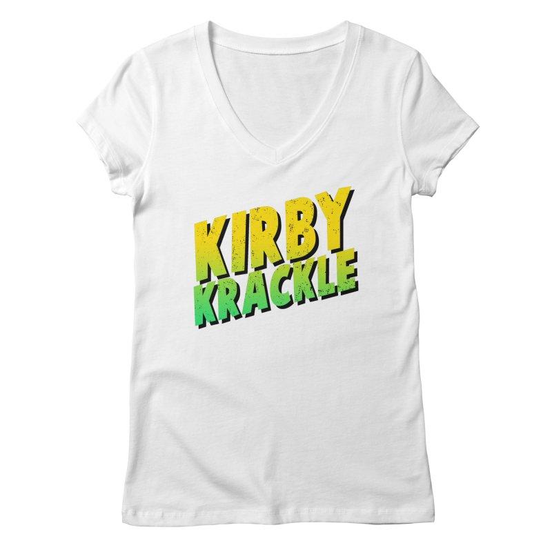 Kirby Krackle - Block Logo Women's V-Neck by Kirby Krackle's Artist Shop