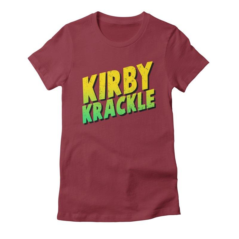 Kirby Krackle - Block Logo Women's Fitted T-Shirt by Kirby Krackle's Artist Shop