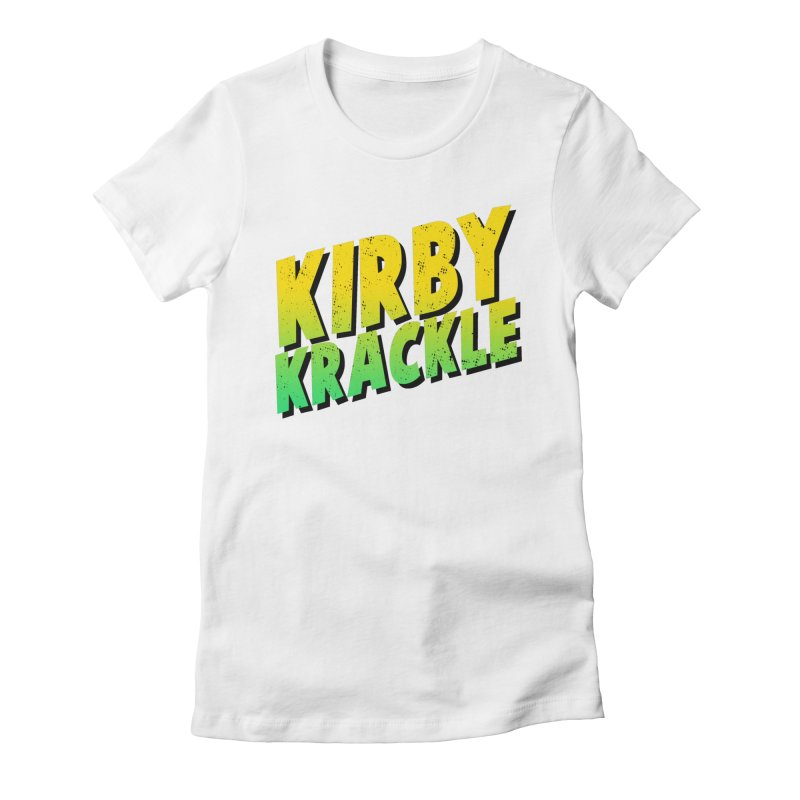 Kirby Krackle - Block Logo Women's Fitted T-Shirt by Kirby Krackle's Artist Shop